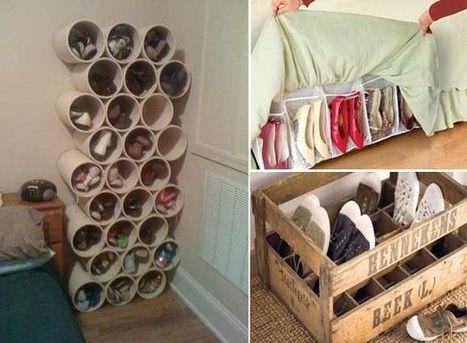 10 ideas originales y pr cticas para organizar los zapatos for Colgadores de ropa