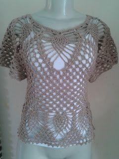 Coisas da Bya - Artesanato Feito á Mão      : Blusa em Crochet