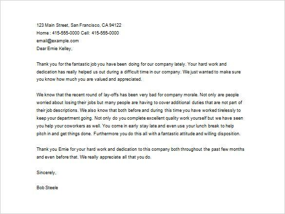 thank you letter employee free word excel pdf format internship retirement