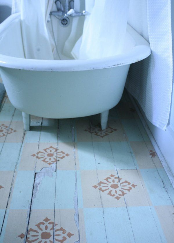 Les 20 meilleures id es de la cat gorie planchers peints - Peindre un parquet en blanc ...