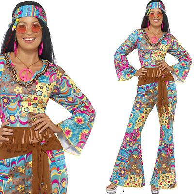 Ladies #hippy #fancy #dress costume 1960s 60s hippie lady sixties outfit,  View more on the LINK: http://www.zeppy.io/product/gb/2/121256173635/