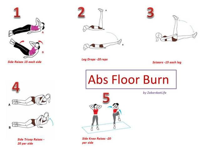Abs floor burn abs workout for Floor ab workouts