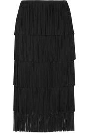 TOM FORD Fringed cady midi skirt