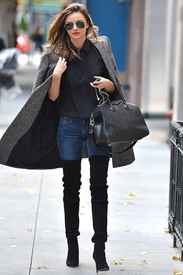 Thigh high boots | Street style
