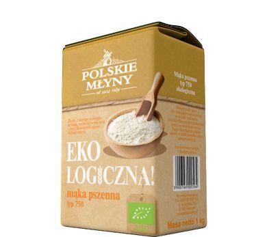 Ekologiczna mąka pszenna typ750. Mąka ekologiczna pszenna typ 750 wytwarzana jest z ziarna pochodzącego z gospodarstw rolnych posiadających ekologiczne certyfikaty, co gwarantuje jej wysoką jakość, walory zdrowotne oraz smakowe. Mąka wytwarzana jest w szymanowskim młynie w całkowicie naturalny sposób, nie dodawane są do niej żadne dodatkowe substancje takie jak polepszacze, konserwanty, wybielacze. Mąka idealnie pasuje do wypieków ekologicznego, wysokiej jakości chleba ...