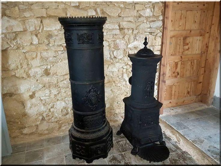 Öntöttvas antik kályha