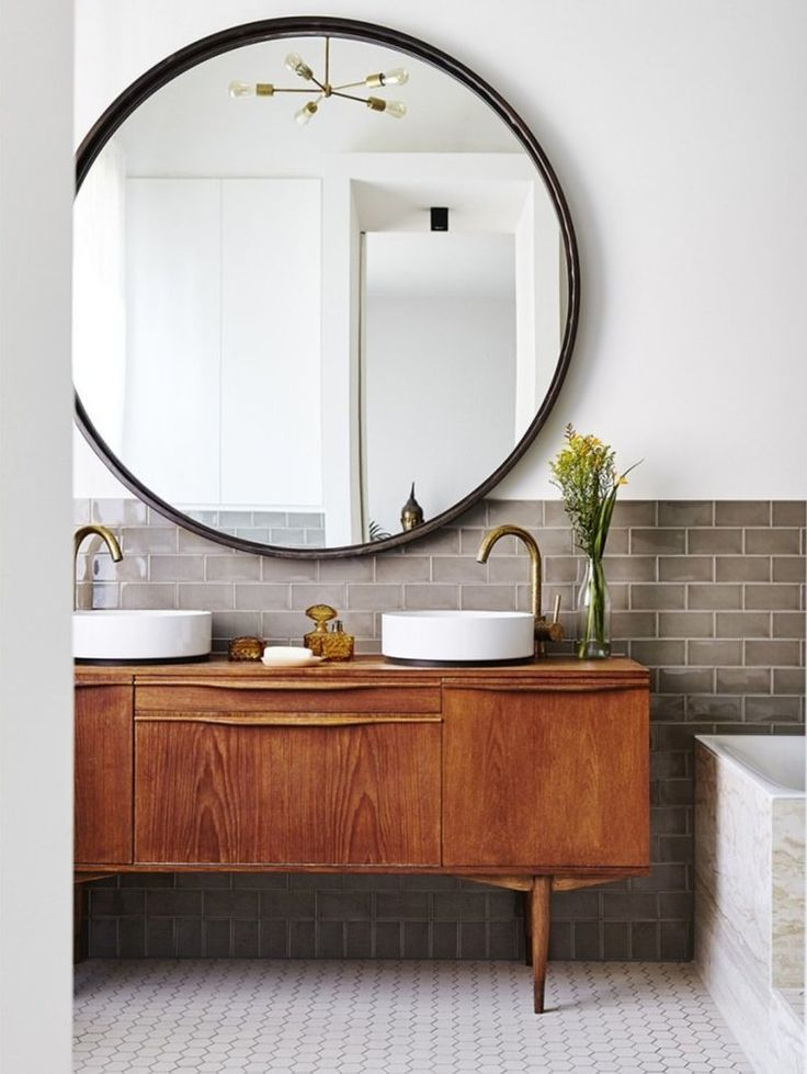 Mid-century modern bath. photo: Marc Heldens. via …