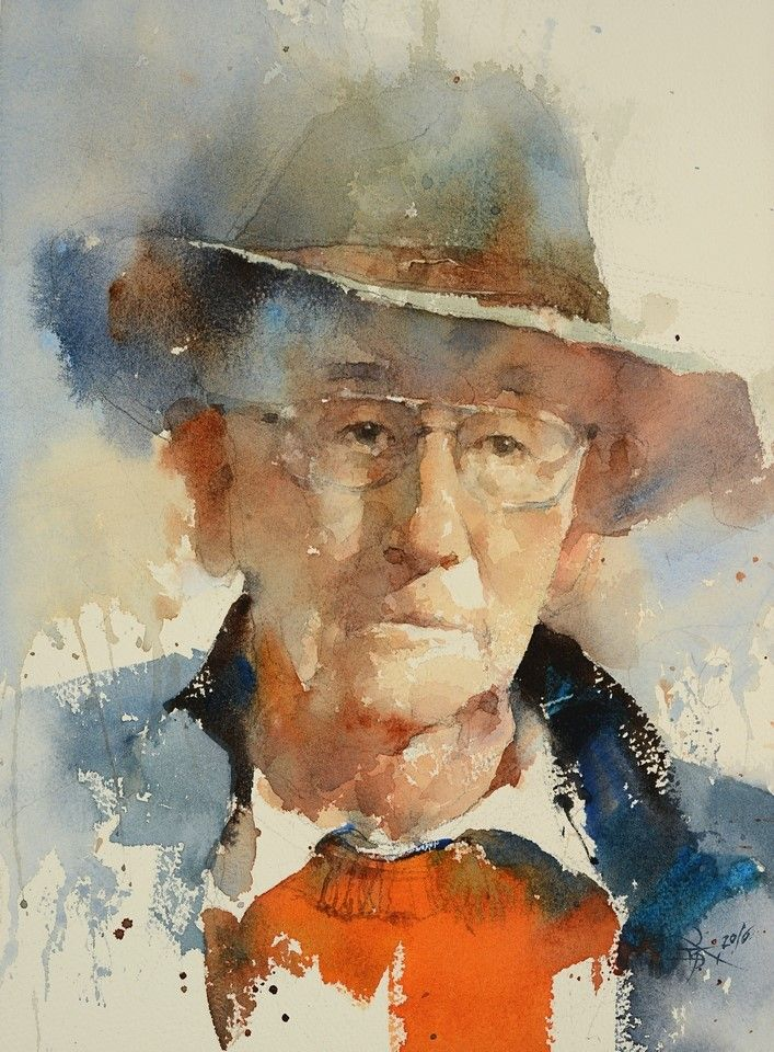 【 The Master Robert Wade】36 x 27 cm ,Watercolor demo by Chien Chung Wei, Inspired by Charles Reid's style.