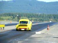 Porsche dragster wheelie