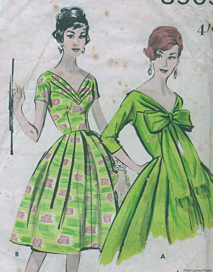 Vintage sewing pattern for ladies dresses