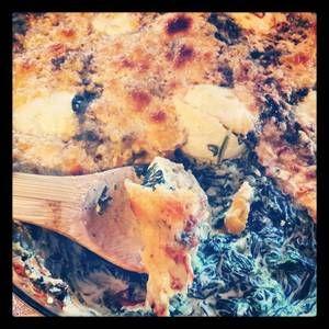 Gratin  d'épinard façon florentine au mascarpone