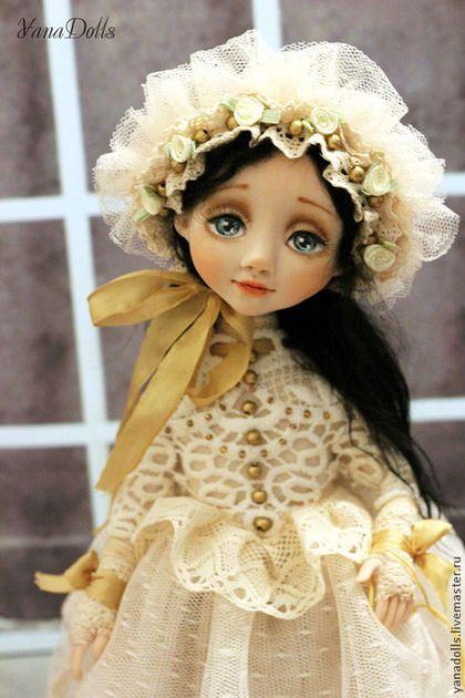 Emily - бежевый,кукла,кукла ручной работы,кукла в подарок,кукла интерьерная