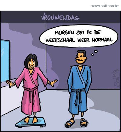 Thema van de cartoon op deze pagina: Op 8 maart komen vrouwen op voor solidariteit en hun rechten, klik op de cartoon om naar de volgende te gaan