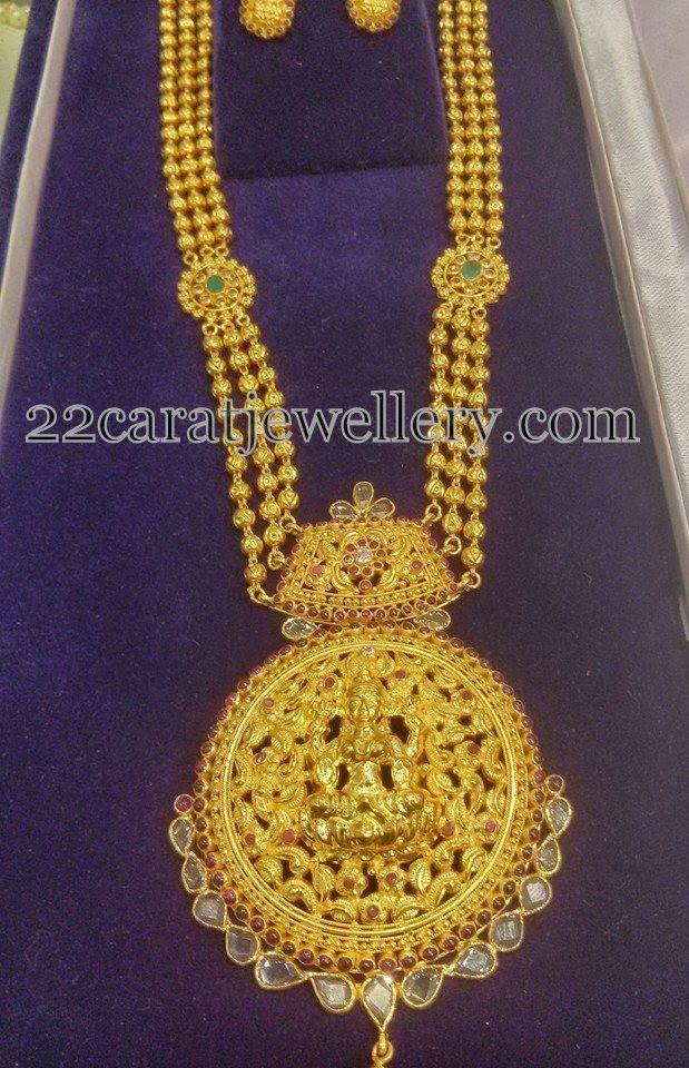 Jewellery Designs: Gold Long Set by Mahalakshmi jewels