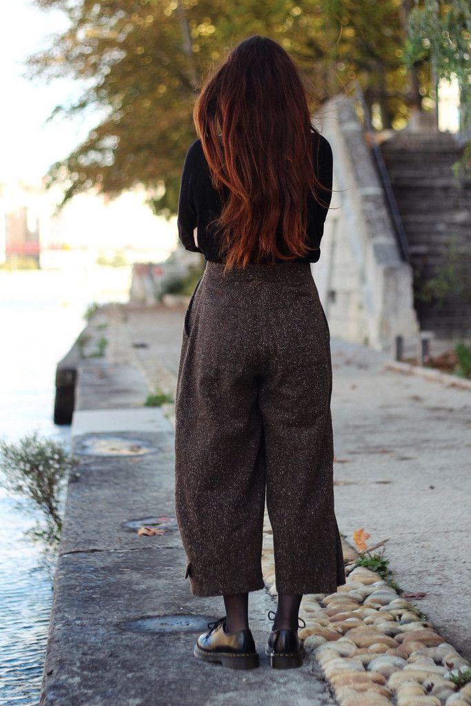 Pantalon marron – Look Vintage - friperie en ligne