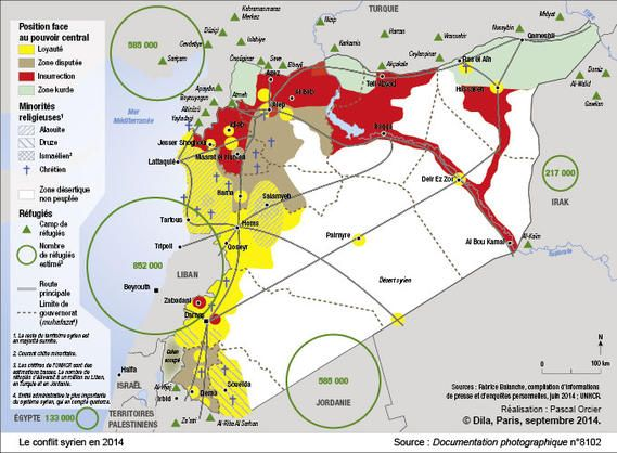 Le conflit syrien en 2014