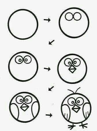Aprende A Dibujar Un Pajaro Facil Y Sencillo Importante