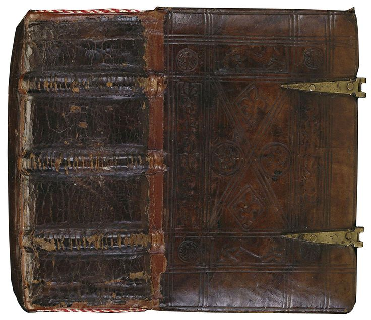 'Augustine and Heinrich manuscript'  Calf leather and brass  Binder unknown, 1440-1460