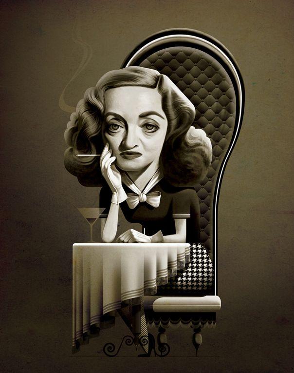 Bette Davis by Cristo Salgado
