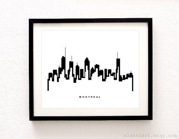Montréal Skyline Print - impression de Cityscape - Montréal Skyline Print - impression de ville de Montréal - Decor moderne - Art Aldari