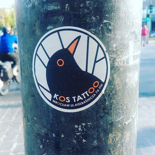 #kos #reklama #vlepka #tattoo #Wrocław #wroclove #ulica #wlepki #promocja