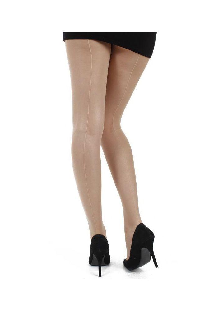Pamela Mann Jive Seamed Tights Nude-Nude   Attitude Clothing