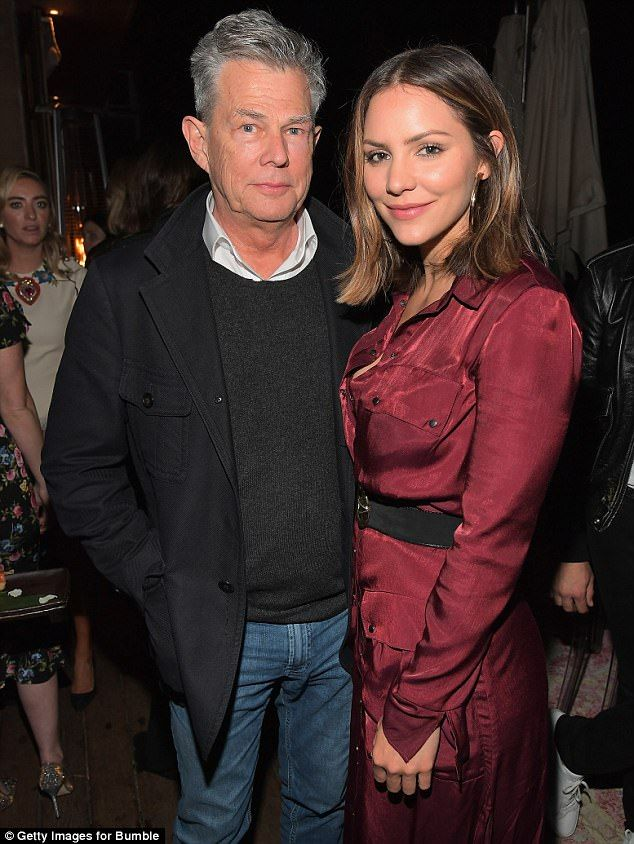 Heating up! Katharine McPhee and David Foster fueled relationship rumors Wednesday night as they appeared together at the launch of Bumble Bizz in LA