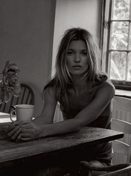 Kate Moss...Morning Coffee