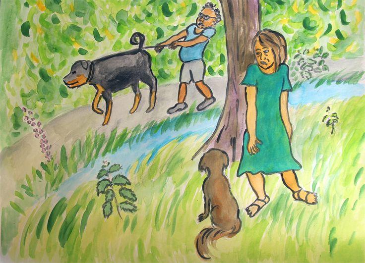 Leven is laveren langs enge mensen en honden.