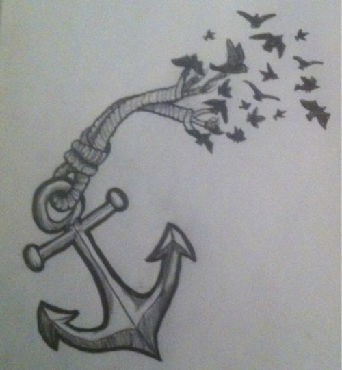 Anchor and Birds, Would Make Cool Tattoo