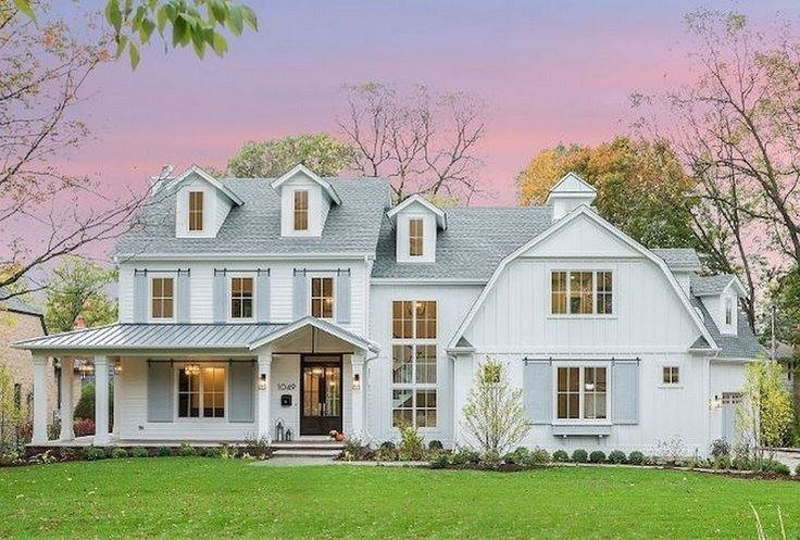 40 Awesome Modern Farmhouse Design House Plans Ideas Best Home Decorating Ideas Page 10 In 2020 White Farmhouse Exterior Modern Farmhouse Exterior House Exterior