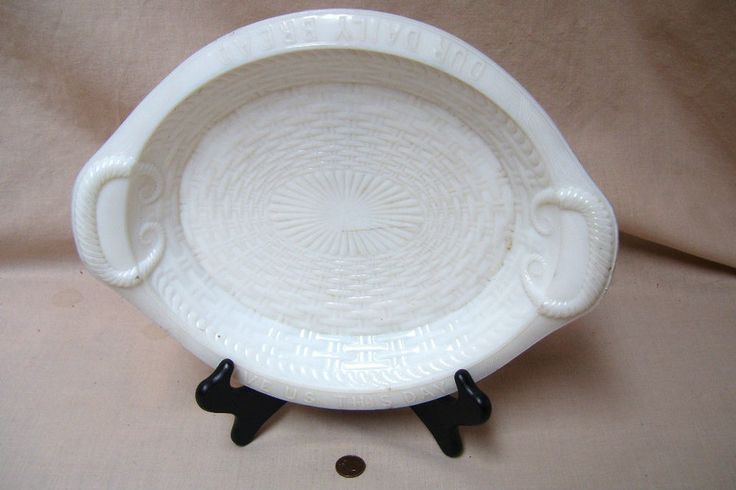 Give Us This Day Our Daily Bread Plate - Antique Milk Glass  $79.99 Includes FREE USA and Canada Shipping!