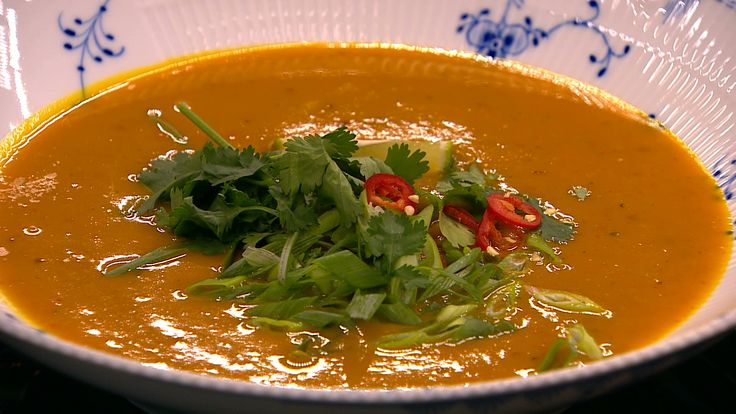 Thai-style græskar suppe