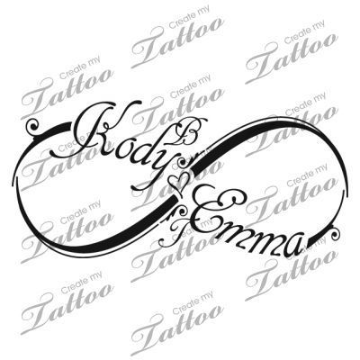 Infinity with name tattoo | Infinity Tattoo Of My Kids Names ...