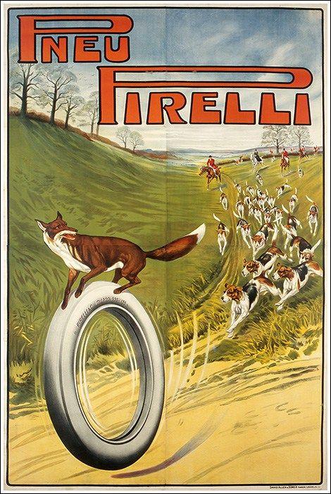 Pneu #Pirelli manifesto original #vintage poster #motors  www.posterimage.it