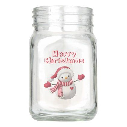#Joyful Snowman  Mason Jar (12 oz) - #Xmas #ChristmasEve Christmas Eve #Christmas #merry #xmas #family #kids #gifts #holidays #Santa