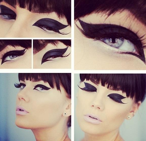 Dramatic eyeliner, gorgeous!!!