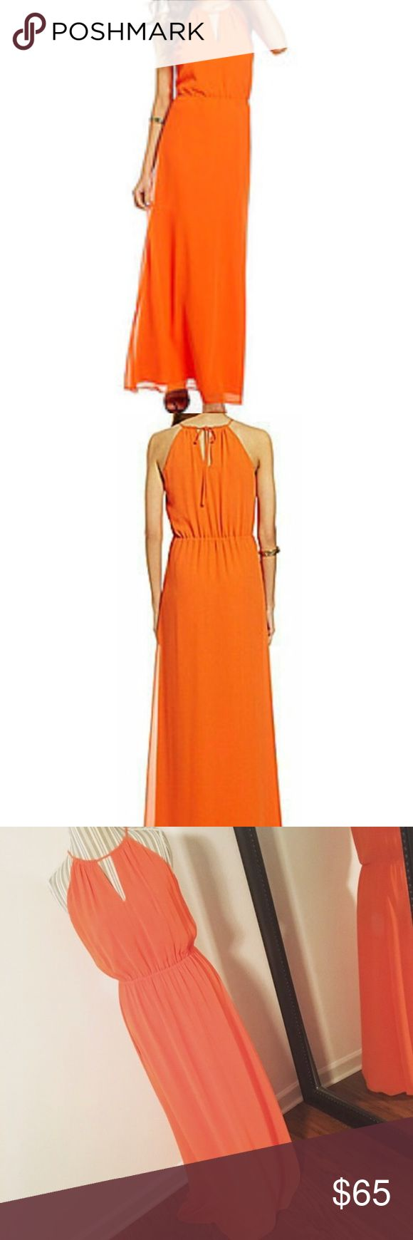 🔥BRAND 🆕 orange maxi dress Brand new orange maxi dress, can be dressed up or dressed down ! It was a present that's why the tag is ripped but it's brand new & never worn ! Offers are welcome !!!💰💰💰 Gianni Bini Dresses Maxi
