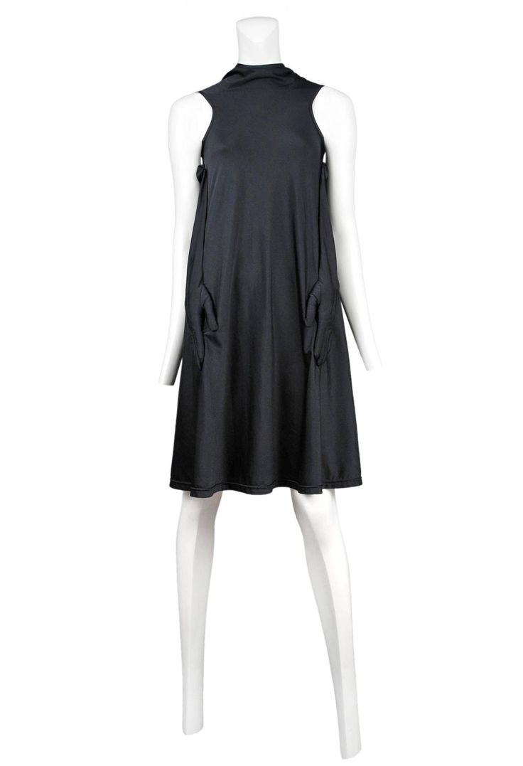 Black gloves with bow - Comme Des Garcons Black Glove Dress