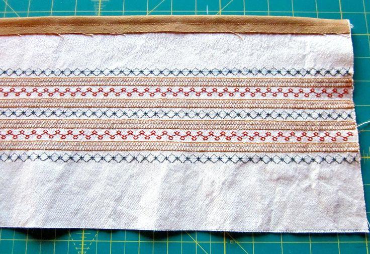 Scandinavian Style rustic apron with decorative stitching