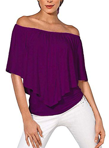 New Trending Crop Tops: DREAGAL Women's Short Sleeve Shirt Strapless Blouses Off Shoulder Tops Purple XX-large. Special Offer: $15.99 amazon.com Just For Your Beauty–DREAGAL...