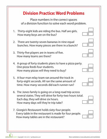 4th grade division worksheets free printables 4th grade word problems word problems 3rd. Black Bedroom Furniture Sets. Home Design Ideas