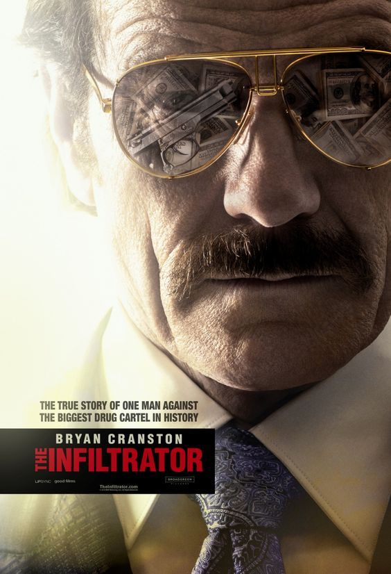 The Infiltrator 2016, A U.S. Customs official uncovers a money laundering scheme involving Colombian drug lord Pablo Escobar.