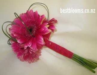 cerise gerbera wedding bouquets