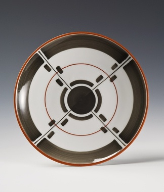 Plate by Nora Gulbrandsen for Porsgrund Porselen. Production year ca 1930.