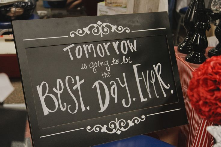 Beautiful sign for wedding rehearsal dinner.  Find great items like that at any FancyFlip event! www.fancyflipevents.com