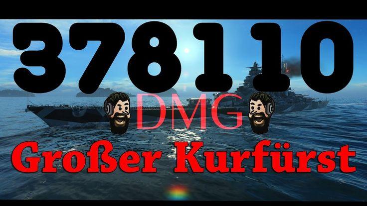 378110 DMG- RECORD - Großer Kurfürst vs 3 YAMATOs - World of Warships