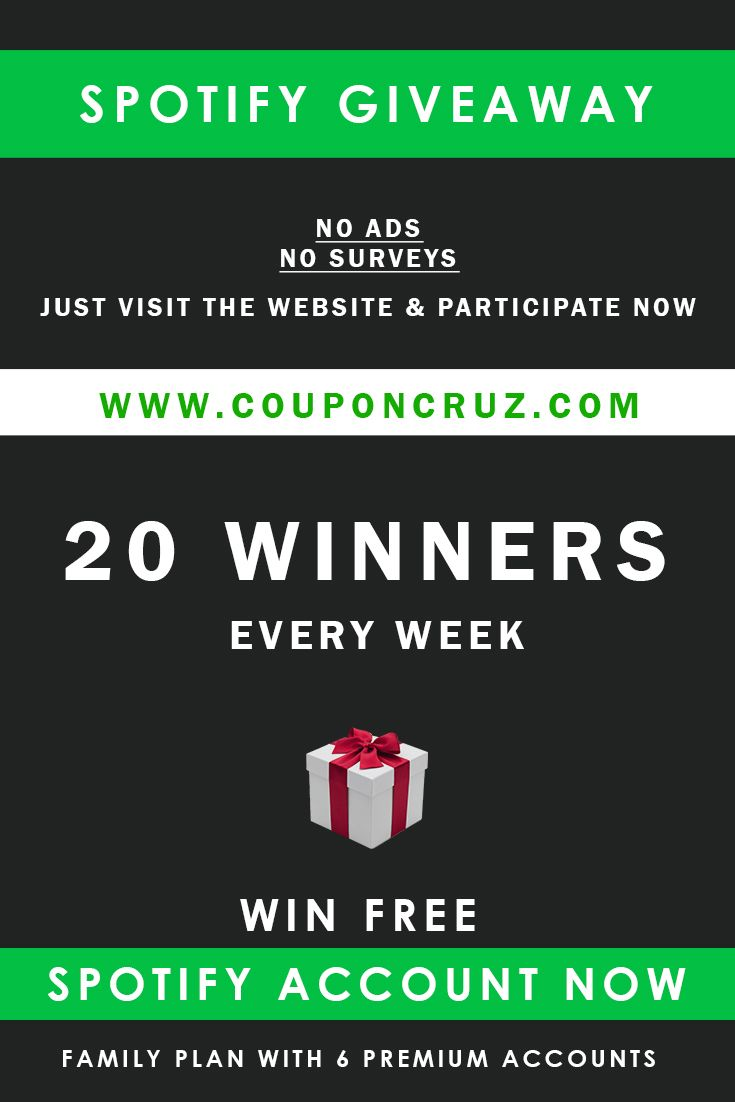 Get Free Spotify Premium Account On Couponcruz Spotify Premium Spotify Accounting