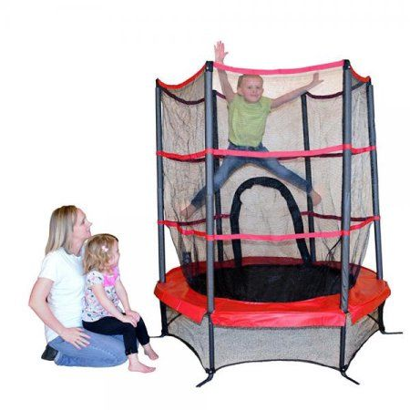 Free Shipping. Buy Propel Trampolines PTS55-RE Junior Trampoline with Enclosure, 55, Red at Walmart.com