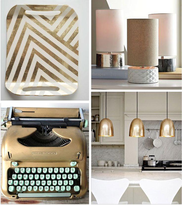 White and gold interior decor